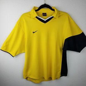 Vintage Nike Collar V Neck Rugby Golf Polo Men L